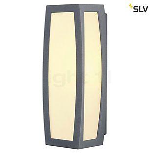 SLV Meridian Box, lámpara de pared con sensor de movimiento gris plateado
