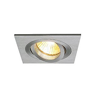 SLV New Tria, GU10 Downlight angular aluminium brushed , discontinued product