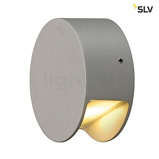 SLV Pema LED, lámpara de pared de superficie gris plateado