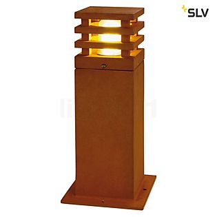 SLV Rusty Square Bollard Light 40 cm