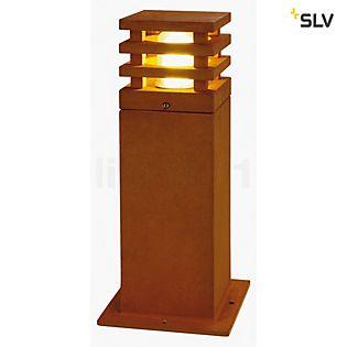 SLV Rusty Square Bollard Light LED 40 cm