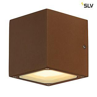 SLV Sitra Cube, lámpara de pared en forma de cubo, Gx53 óxido