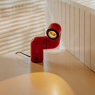Santa & Cole Tatu Lampada da tavolo e parete LED rosso