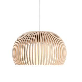 Secto Design Atto 5000 Suspension LED bouleau, naturel/câble textile blanc