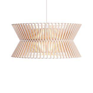 Secto Design Kontro 6000 Pendelleuchte Birke, natur/Textilkabel weiß