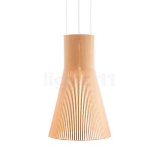 Secto Design Magnum 4202 Lampada a sospensione betulla, naturale/cavo tessile bianco
