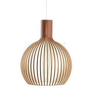 Secto Design Octo 4240 Hanglamp walnoot, fineer/textielkabel wit