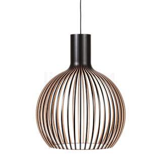 Secto Design Octo 4240, lámpara de suspensión nogal, revestido/cable textil blanco