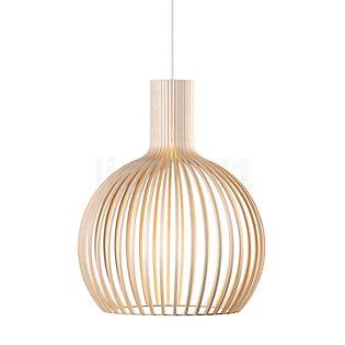 Secto Design Octo 4241 Pendel birk, naturlig / tekstil ledning hvid