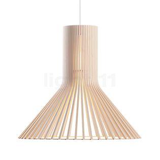 Secto Design Puncto 4203 Suspension bouleau, naturel/câble textile blanc