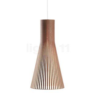 Secto Design Secto 4200 Hanglamp walnoot, fineer/textielkabel wit