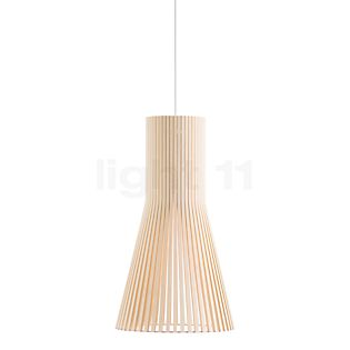 Secto Design Secto 4201 Pendelleuchte Birke natur/Textilkabel weiß