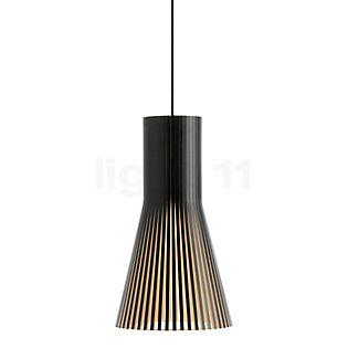 Secto Design Secto 4201 Pendelleuchte Schwarz, laminiert/Textilkabel schwarz
