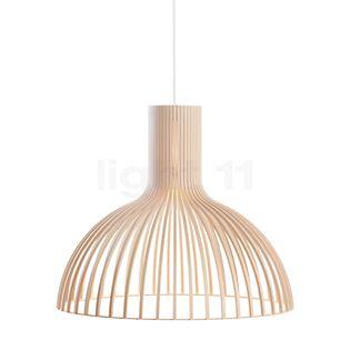 Secto Design Victo 4250 Suspension bouleau, naturel/câble textile blanc