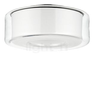 Serien Lighting Curling L Ceiling Light LED glass shade clear/reflector cylindrical opal, 2,700 K