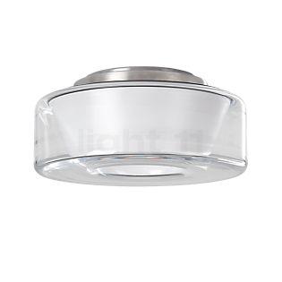 Serien Lighting Curling M Plafonnier LED abat-jour en verre clair/réflecteur cylindrique opale , fin de série