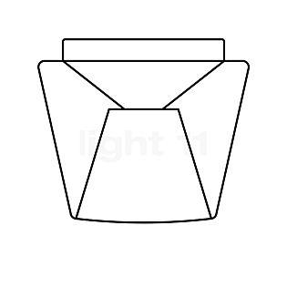 Serien Lighting Pezzi di ricambio per Annex Ceiling e Suspension paralume in vetro traslucido chiaro, small - con guarnizione in gomma