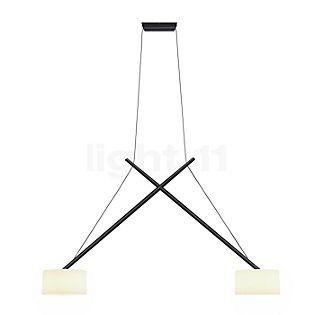 Serien Lighting Twin Lampada a sospensione paralume vetro acrilico, cromo lucido