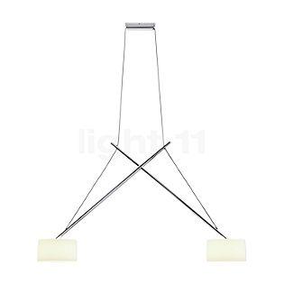 Serien Lighting Twin, lámpara de suspensión pantalla vidrio acrílico, cromo brillo