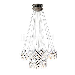 Serien Lighting Zoom XL Lampada a sospensione, 2 elementi acciaio inossidabile spazzolato