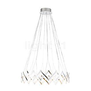 Serien Lighting Zoom, lámpara de suspensión LED acero inoxidable cepillado