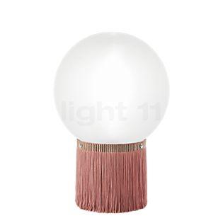 Slamp Atmosfera Fringe Lampada da tavolo rosa, ø30 cm