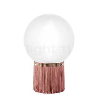 Slamp Atmosfera Fringe, lámpara de sobremesa rosa, ø20 cm
