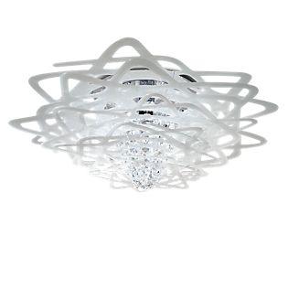 Slamp Aurora, lámpara de techo blanco
