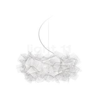 Slamp Clizia Pixel, lámpara de suspensión ø53 cm, cable transparente