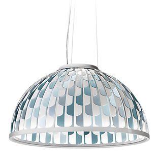 Slamp Dome, lámpara de suspensión LED azul, ø55 cm