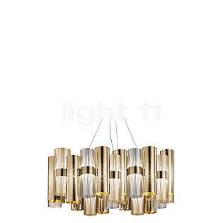 Slamp La Lollo, lámpara de suspensión L LED dorado , artículo en fin de serie
