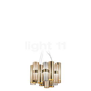 Slamp La Lollo, lámpara de suspensión M LED dorado