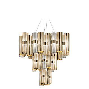 Slamp La Lollo, lámpara de suspensión XL LED dorado