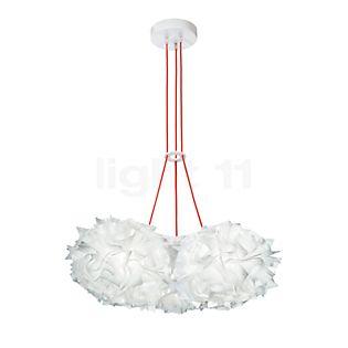 Slamp Veli Couture Mini Trio, lámpara de suspensión couture/cable rojo