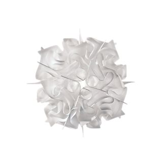 Slamp Veli, lámpara de pared y techo blanco opalino, ø53 cm