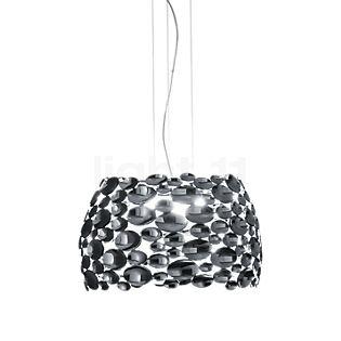 TERZANI Anish Lampada a sospensione LED nichel, ø44 cm