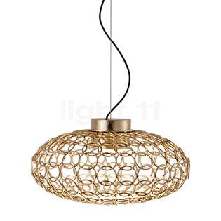 TERZANI G.r.a Pendelleuchte oval LED gold