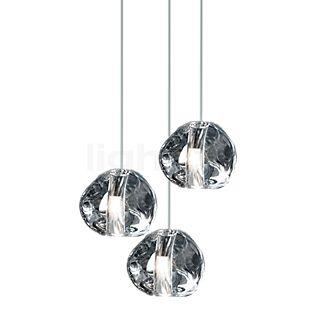 TERZANI Mizu Pendant Light 3 lamps clear