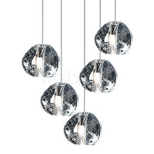 TERZANI Mizu Pendant Light 5 lamps clear