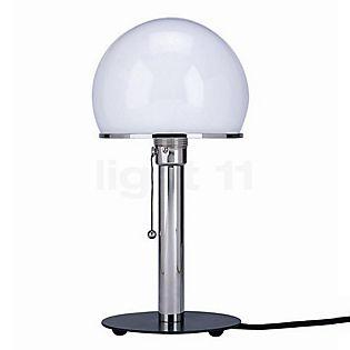 Tecnolumen Wagenfeld WA 23 SW Table lamp body nickel-plated/base black