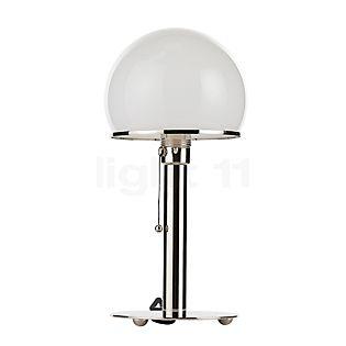 Tecnolumen Wagenfeld WA 24, lámpara de sobremesa cuerpo niquelado/pie niquelado