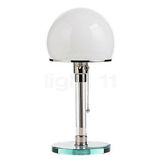 Tecnolumen Wagenfeld WG 24, lámpara de sobremesa cuerpo transparente/pie vidrio
