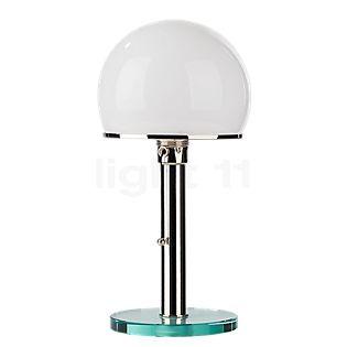 Tecnolumen Wagenfeld WG 25 GL Lampada da tavolo corpo nichelato/piede vetro