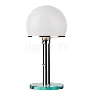 Tecnolumen Wagenfeld WG 25 GL Table lamp body nickel-plated/base glass