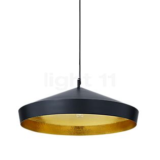 Tom Dixon Beat Flat Pendelleuchte schwarz/Messing