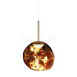 Tom Dixon Melt Suspension LED doré, 28 cm