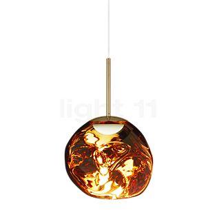 Tom Dixon Melt Suspension LED doré, 28 cm