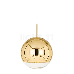 Tom Dixon Mirror Ball Suspension doré, ø25 cm