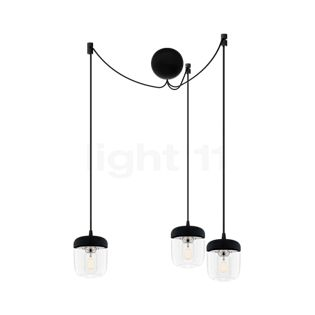 UMAGE Acorn Cannonball Pendant Light 3 lamps black stainless steel