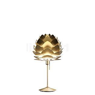 UMAGE Aluvia, lámpara de sobremesa Champagne en latón antracita/latón